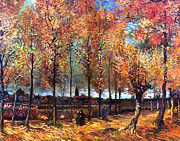 Garden Paintings - Lane with poplars by Sumit Mehndiratta