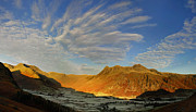 Pike Of Stickle Prints - Langdale Cloud Fireworks Print by Stewart Smith