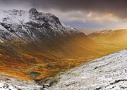 Pike Of Stickle Framed Prints - Langdale Sunburst Framed Print by Stewart Smith
