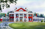 Cambridge Painting Prints - Langdon Hall Print by Hanne Lore Koehler