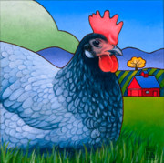 Hen Paintings - Langley the Island Girl by Stacey Neumiller