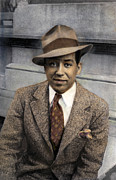 African-american Photo Framed Prints - Langston Hughes Framed Print by Granger