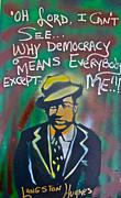 Free Speech Paintings - Langston Hughes by Tony B Conscious