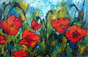 Languedoc Painting Posters - Languedoc Poppies No 2 Poster by Jackie Sherwood