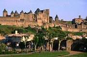 Carcassonne Prints - Languedoc Roussillon Carcassonne La Cite, 12th Century Castle, Carcassonne, Languedoc-roussillon, France, Europe Print by John Elk III