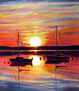 Conditions Painting Posters - Languid Sunset Poster by Michael Gaudet