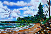 Haleiwa Paintings - Laniakea Beach by Larry Geyrozaga