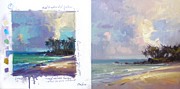 Laniakea Beach Prints - Laniakea Studies Print by Richard Robinson