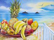 Banana Art Posters - Lanikai Fruit Poster by Barbara Eberhart - Printscapes