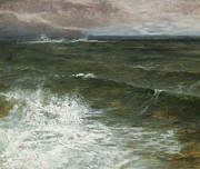 Stormy Weather Paintings - Lannacombe Bay by GV Cole
