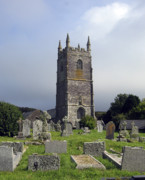 Churches Prints - Lansallos Church Cornwall Print by Kurt Van Wagner