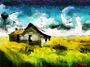 Vincent Dinovici Art - Lanscape with a house TNM by Vincent DiNovici