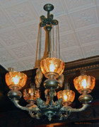 Lantern Chandelier Print by DigiArt Diaries by Vicky B Fuller