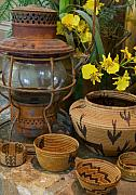 Baskets Digital Art - Lantern with Baskets 1 by Stephen Anderson