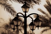 St. Augustine Florida Posters - Lanterns and Fronds Poster by DigiArt Diaries by Vicky Browning