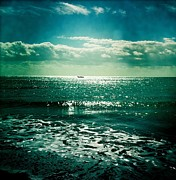 Green Boat Prints - Lanzarote Seascape Print by Usman Ali
