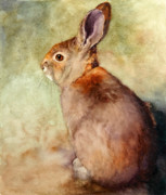 Wild Rabbit Posters - Lapin Poster by Bonnie Rinier