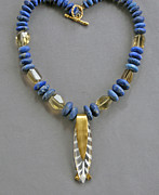 Vintage Jewelry - Lapis and vintage lucite by Mirinda Kossoff