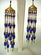 Quality Jewelry - Lapis Lazuli Taj Earrings by Adove  Fine Jewelry