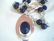 Sterling Silver Jewelry - Lapis Love Pendant by HC Designs