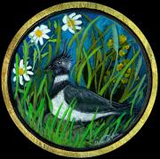 Contemporary American Folk Art Framed Prints - Lapwing Framed Print by Anna Folkartanna Maciejewska-Dyba