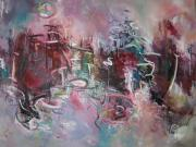 Large Canvas  For Sale Paintings - Large Abstract Seascape11 by Seon-Jeong Kim