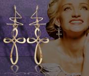 Gold Earrings Art - Large Cross Earspirals by Harry Mason