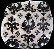 Pattern Ceramics - Large Damask Platter SOLD by Amanda  Sanford
