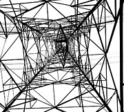 Large Electricity Powermast Print by Yali Shi