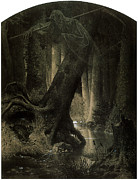 Grim Paintings - Large Forest by Arthur Grottger