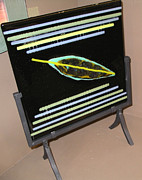 Fused Glass Art - Large Fused Glass Square by Diane Jacobson