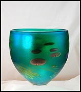 Bowl Glass Art - Large Giverny Bowl by Robert Held