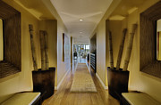 Bamboo House Framed Prints - Large Hallway in Upscale Residence Framed Print by Andersen Ross