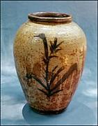Kiln Ceramics - Large Jar with Brushwork by Stephen Hawks