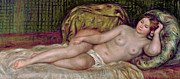 Pillow Posters - Large Nude Poster by Pierre Auguste Renoir