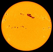 2001 Framed Prints - Large Sunspot Group On The Sun, Soho Framed Print by Solar & Heliospheric Observatory consortium (ESA & NASA)