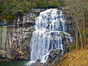 Susan Leggett Prints - Large Waterfall Print by Susan Leggett