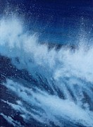 Wave Posters - Large Waves Breaking Poster by Alan Byrne