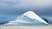 Large Metal Prints - Large Wedge Shaped Iceberg Metal Print by Duane Miller