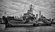 Hms Framed Prints - Largest in the Fleet Framed Print by Heather Applegate