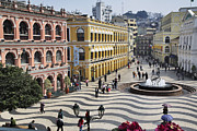 Town Square Prints - Largo Do Senado (senado Square) Print by Manfred Gottschalk