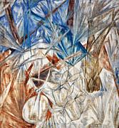 Larionov: Glass, 1912 Print by Granger
