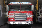 Fire Fighters Prints - Larkspur Fire Department Fire Engine - Larkspur California - 5D18474 Print by Wingsdomain Art and Photography