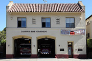 Fire Fighters Prints - Larkspur Fire Department - Larkspur California - 5D18503 Print by Wingsdomain Art and Photography