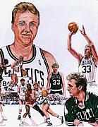 Larry Bird Drawings - Larry Bird by Neal Portnoy