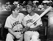 League Metal Prints - Larry Doby (1923-2003) Metal Print by Granger