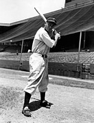 Baseball Bat Photo Metal Prints - Larry Doby, Circa 1947 Metal Print by Everett