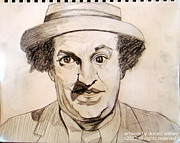 Larry Drawings - Larry Fine of  The Three Stooges by Donald William