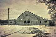 Neenah Framed Prints - Larsen Road Barn Framed Print by Joel Witmeyer