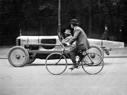 Bicycling Photos - Lartigue: Automobile, 1912 by Granger